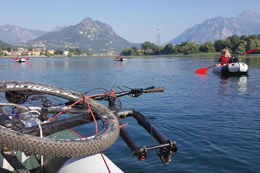 attività di team building sul Lago di Pusiano