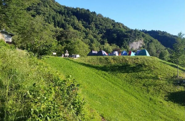 eco team building in Montagna